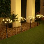 Outdoor LED Sparkler Garden Stake Lights, Connectable