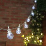 8m Festoon Lights, Connectable, 20 Clear LEDs, White Cable