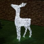 Acrylic standing deer, 1.1m 260 white twinkling LEDโ€™s