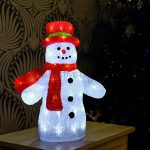 40cm Acrylic Snowman Figure with white LEDs