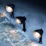 Outdoor Crystal Ball Spotlight, Warm White LEDS , 3 Pack