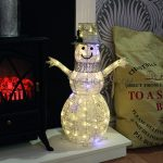 60cm Snowman with 70 Warm White LEDs