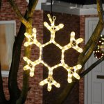 40cm Outdoor LED Twinkling Snowflake Silhouette