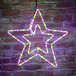 Outdoor Rope Light Star silhouette, Multi Colour LEDs, 55cm