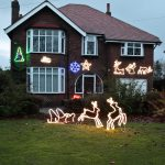 2 Warm White Reindeer Pulling Sledge, 12V, 798 LEDs
