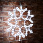 45cm Rope Light Snowflake Silhouette, Connectable, 144 LEDs