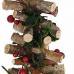 1.80m Twig Garland with Leaves & Berries
