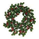 61cm Scotch Holly Berry Wreath
