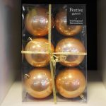 6 x 10cm Warm Gold Gloss Balls
