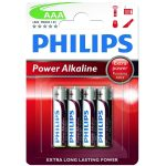 Philips Power Alkaline AAA LR6 Batteries (Pack of 4)