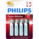 Philips Power Alkaline AA LR6 Batteries (Pack of 4)