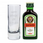 Shot Glass and Mini Jagermeister