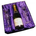 Personalised Crystal Flutes and Champagne