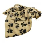 Personalised Dog Paw Fleece Blanket