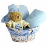 Personalised Blue Baby Hamper
