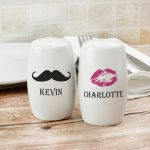 Personalised Moustache And Lips Salt and Pepper Set