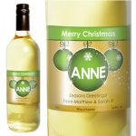 Personalised Xmas White Wine