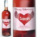 Personalised Rose Heart Wine