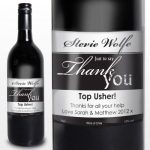Personalised Thank You Red Wine