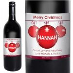 Personalised Xmas Red Wine