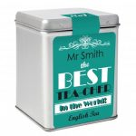Personalised The Best Teacher Tea & Tin