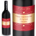 Personalised Heart Swirl Red Wine