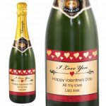 Personalised Hearts Champagne