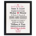 Couples Black Framed Poster