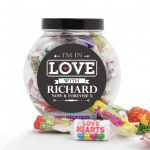 Personalised I'm In Love With Sweets Jar