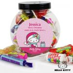 Personalised Hello Kitty Christmas Sweets Jar