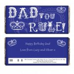 Personalised Dad Rules Chocolate Bar