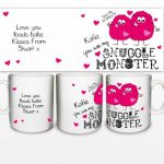 Personalised Snuggle Monster Mug