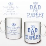 Personalised Dad You Rule Mug