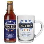 Personalised Dad Beer & Tankard Set
