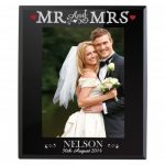 Bling Mr & Mrs Black Glass 5×7 Frame