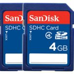 SanDisk Secure Digital (SDHC) Card 4GB – TWINPACK