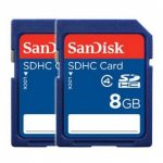 SanDisk Secure Digital (SDHC) Card 8GB – TWINPACK