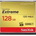 SanDisk Extreme 120MB/sec Compact Flash Card – 128GB