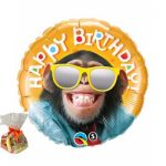 Happy Birthday Chimp Sweet Balloon