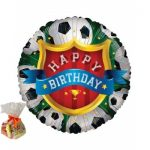 Happy Birthday Football Sweet Balloon
