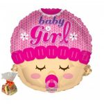 Baby Girl Head Shape Sweet Balloon