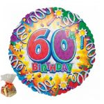 Happy 60th Birthday Sweet Balloon