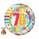 Happy 70th Birthday Sweet Balloon