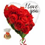 I Love You Roses Sweet Balloon