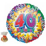 40th Birthday Sweet Balloon