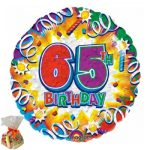 65th Birthday Sweet Balloon