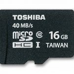 Toshiba High Speed Professional Micro SDHC UHS-1 40MB/sec (Class 10) Card – 16GB