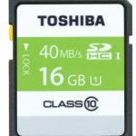 Toshiba High Speed Professional SDHC UHS-1 40MB/sec (Class 10) Card – 16GB