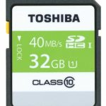 Toshiba High Speed Professional SDHC UHS-1 40MB/sec (Class 10) Card – 32GB