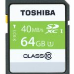 Toshiba High Speed Professional SDXC UHS-1 40MB/sec (Class 10) Card – 64GB